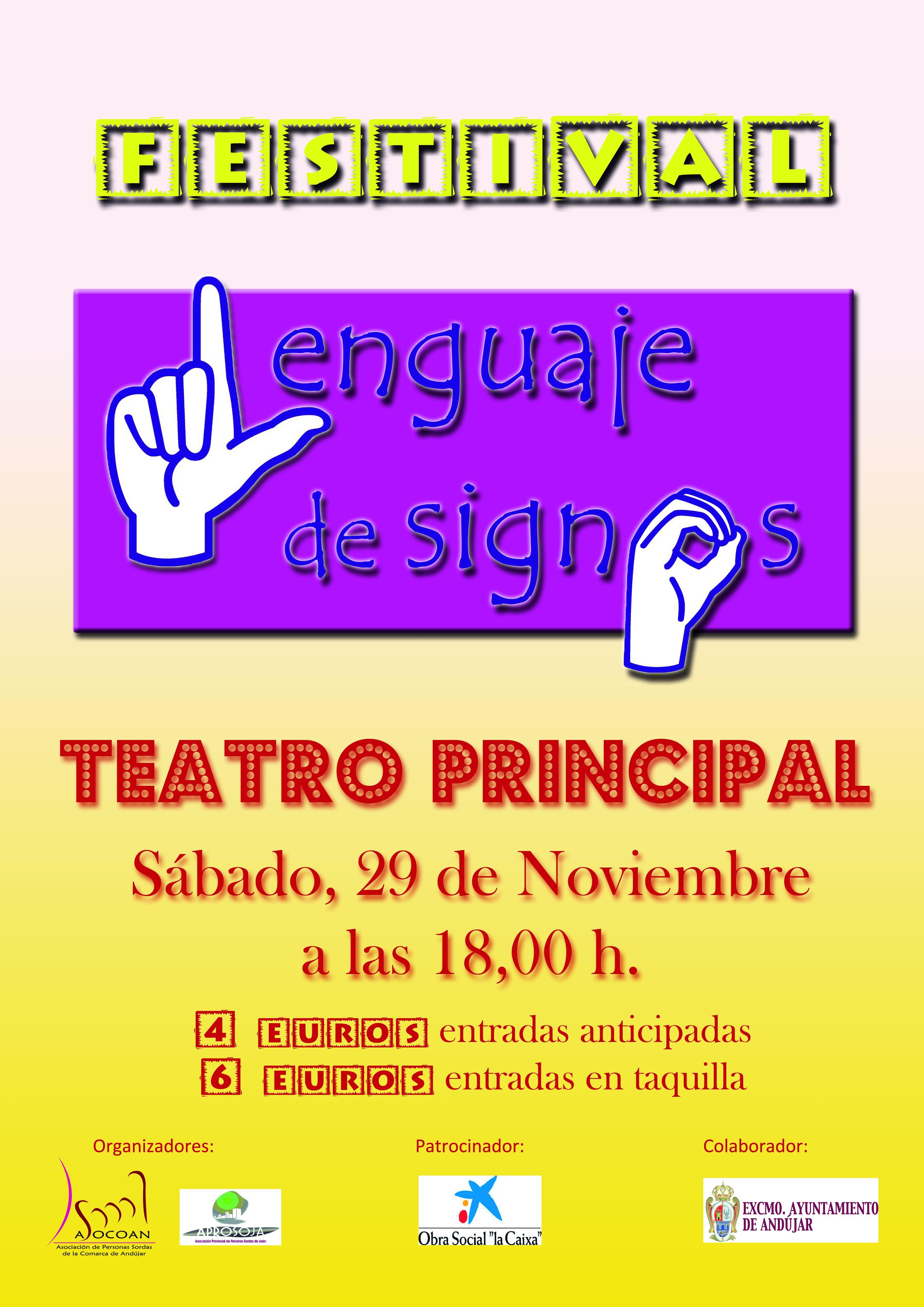 cartel lengua de signos