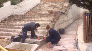 Obras mejora en el Colegio Navas de Tolosa 1.