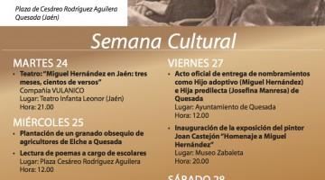 Folleto Semana Cultural por la apertura Museo MH