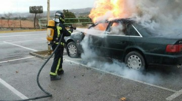 bomberos coche universidad