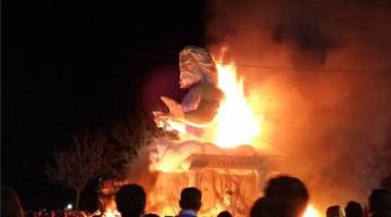 Falla de San José que ardió el año pasado. FOTO: Archivo