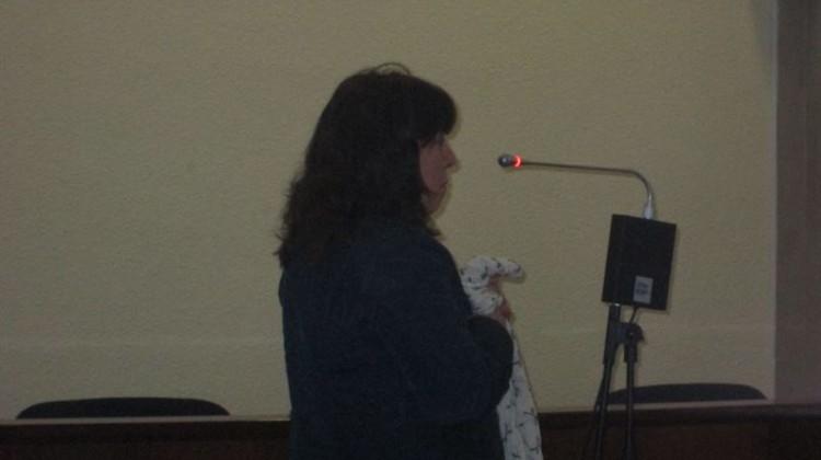 La madre en un momento de la declaración. FOTO: EUROPA PRESS