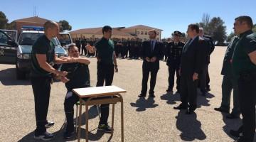 El delegado del Gobierno en Andalucía, Antonio Sanz, visita, esta mañana, la Academia de Baeza