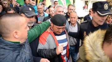 Andrés Bódalo, el día de su detención. FOTO: PERAGON