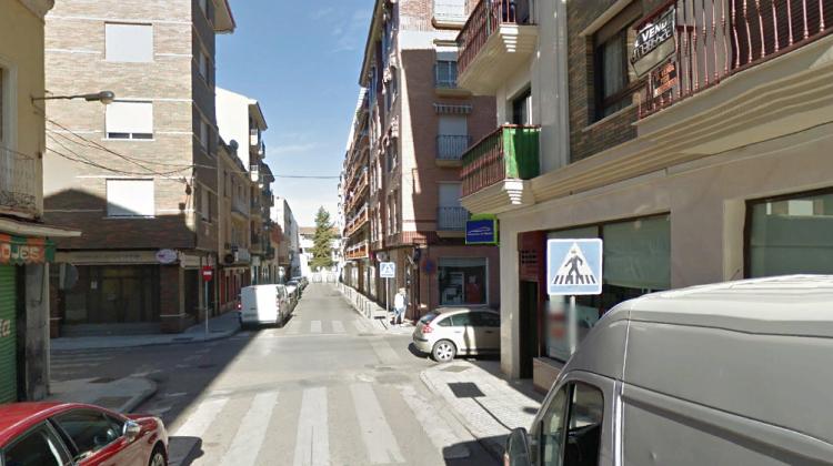 Calle Carolina, en Linares donde se ha producido el incendio.