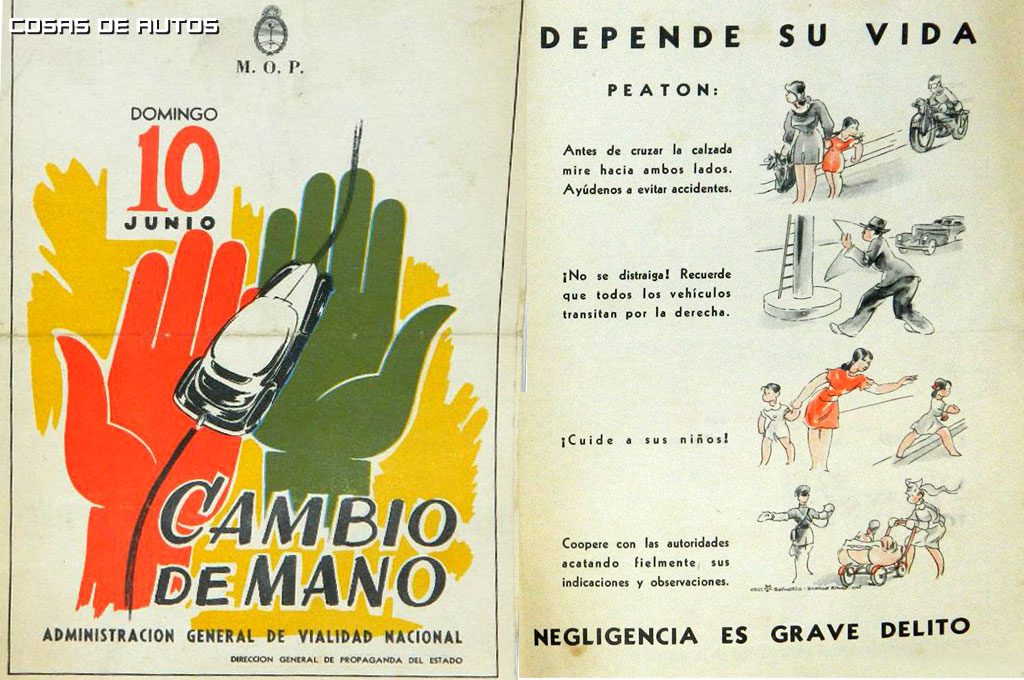 En 1959 nace la Dirección General de Trafico y da comienzo la Seguridad Vial en los años 60.