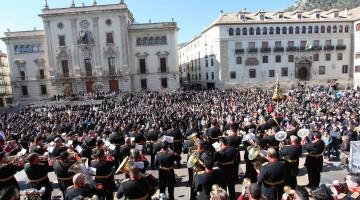 Certamen Sonidos de Pasión celebrado el pasado año en la plaza de Santa María donde acudieron más de mil personas.