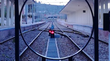Vía de ferrocarril de Jaén. FOTO: ANTONIO JULIÁN