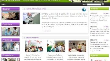 Portada de la web del Hospital de Jaén