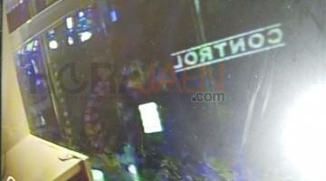 Imagen del asaltante durante esta madrugada. FOTO: HoraJaén