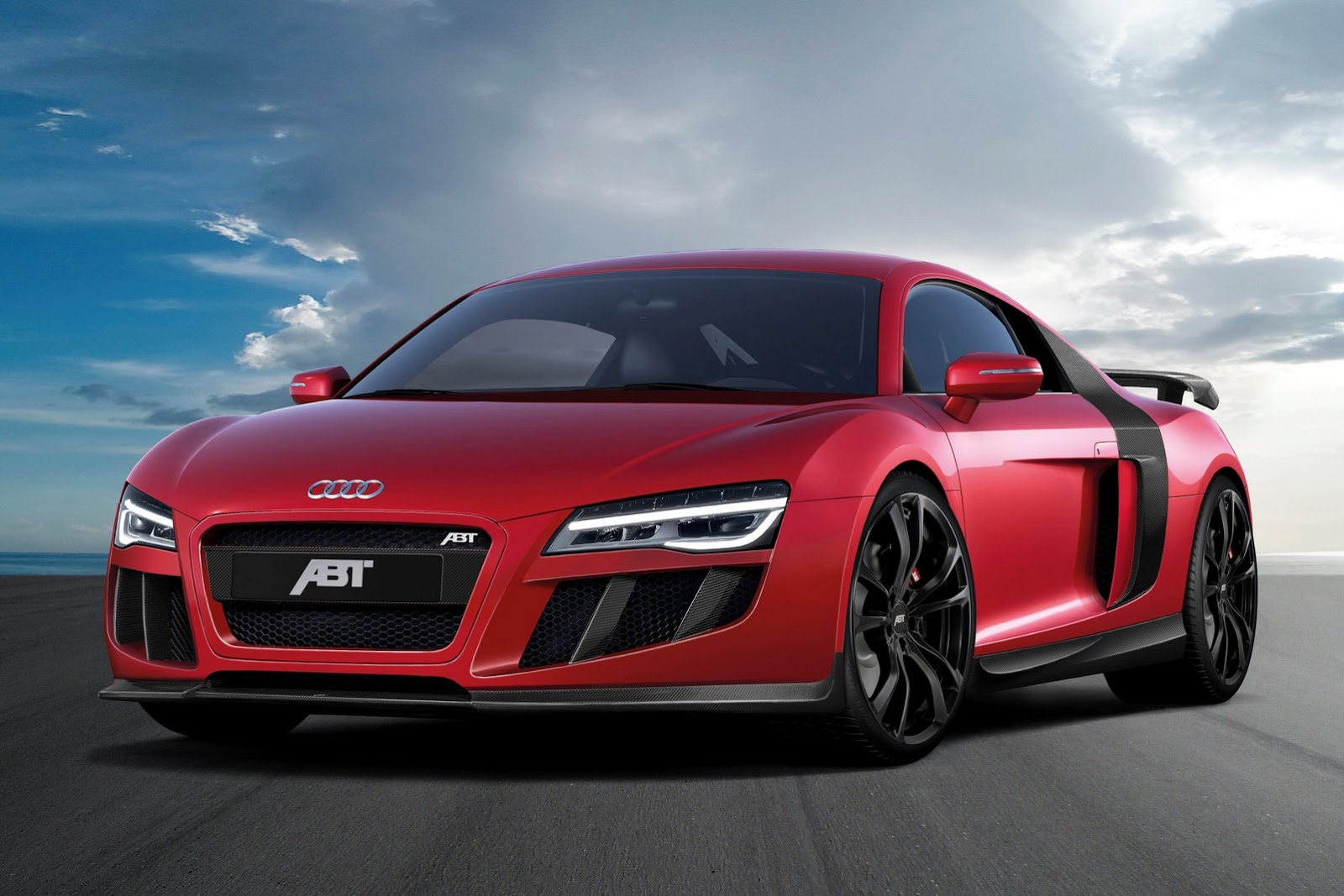 El preparado ABT alemán, inyecta más potencia, modifica la aerodinámica y reduce el peso del Audi R8 V10 para hacerlo mas radical y ofrecer unas prestaciones de maxi deportivo.