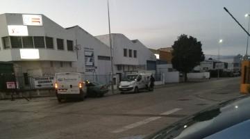 Imagen del accidente en el polígono de Los Olivares. FOTO: @xenxo_7