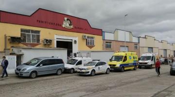 Nave donde se han producido los hechos. FOTO: Policía Local de Bailén