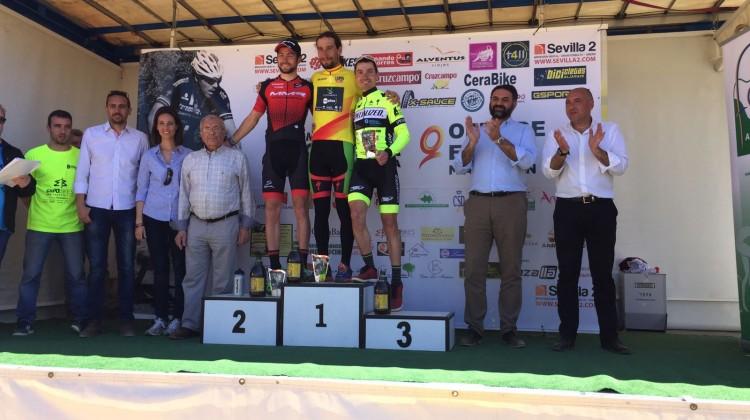 Carreño, Romero y Carrasco, podio de la primera prueba del Open (Foto_Manuel Jesús Muñoz)