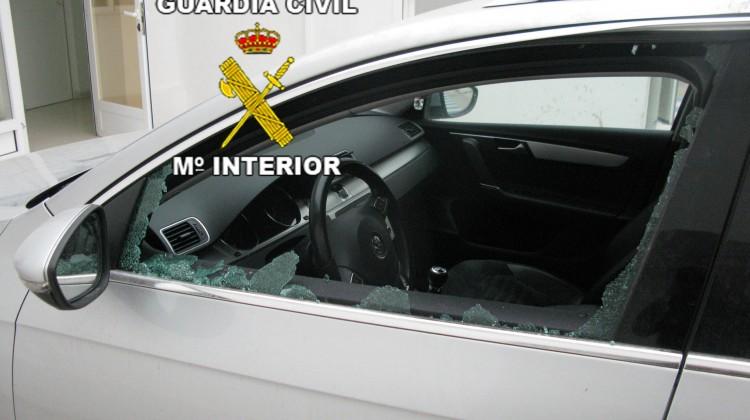 Imagen de uno de los coches robados.
