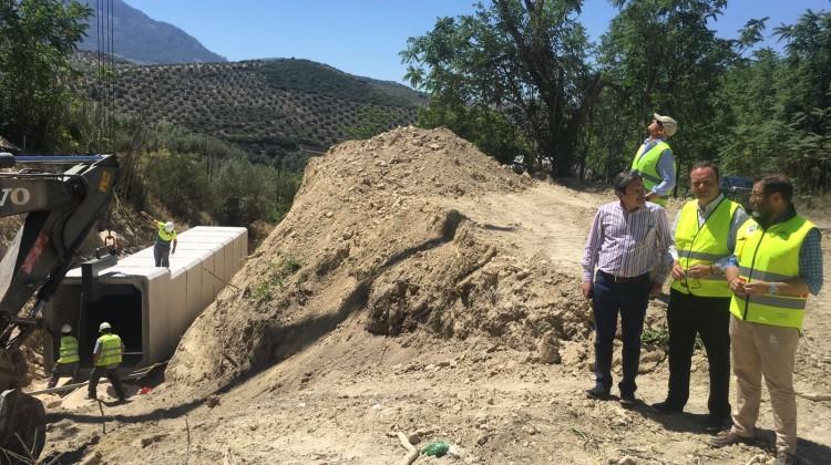 Huertas y Valdivielso-Visita obras emergencia Alcaudete 22-05-17