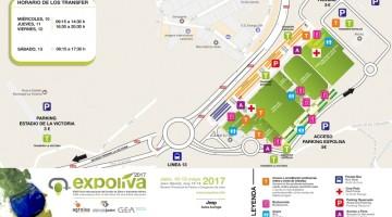 Plano Accesos Expoliva 2017 A3
