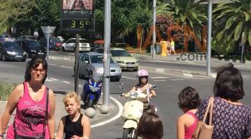 En Jaén capital el calor, también, ha sido protagonista.