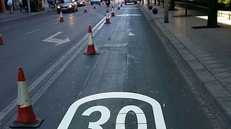 Cruce avenida Madrid con calle Santo Reino 1