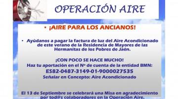OPERACIÓN AIRE HERMANITAS DE LOS POBRES