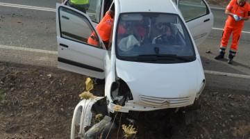 Ayer se produjo otro accidente en este mismo termino municipal. FOTO: HORAJAÉN