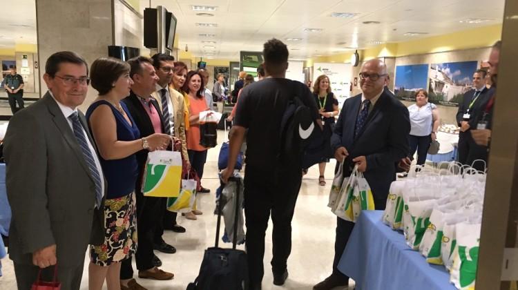 20170721 Inauguración vuelo entre aeropuertos Granada-Jaen y Manchester 2