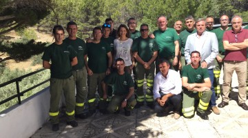 Reconocimiento bomberos forestales incendio Moguer 2 VII-17