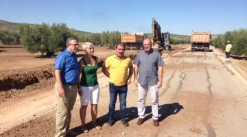 20170819 Visita obras carretera enre el Pilar de Moya e Hiugera de Calatrava 1