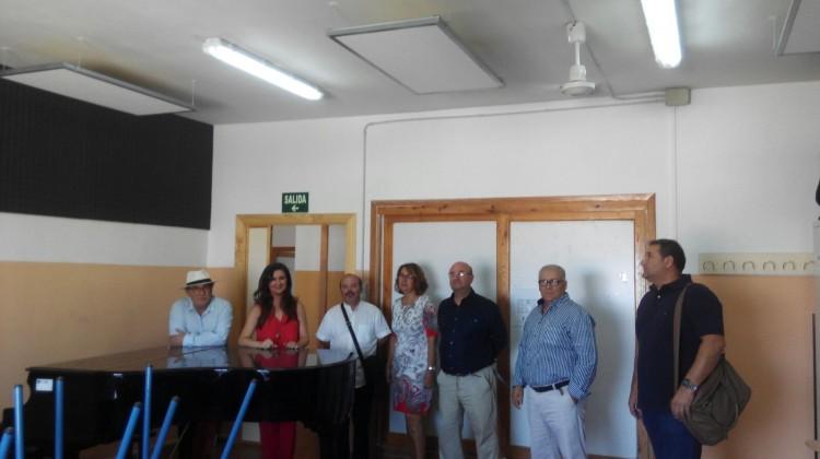 Caballero-Visita obras Conservatorio Profesional de Música Muñoz Garnica 31-08-17