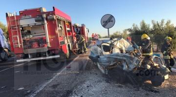 Accidente en Fuerte del Rey, del pasado miércoles. FOTO: HORAJAÉN