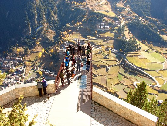 Mirador Roc de Quer en Andorra, al que se quiere asemejar el proyecto jiennense.