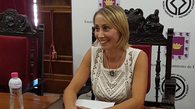 La concejala de Cultura, Elena Rodríguez, ha presentado la XXIII edición de la Muestra de Teatro de Úbeda.