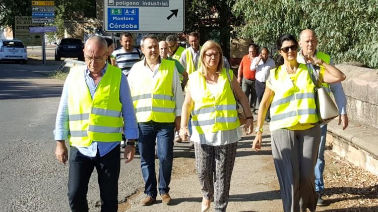 La subdelegado del Gobierno en Jaén, Francisca Molina, ha visitado las obras en Andújar.