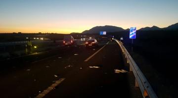 Lugar de la colisión entre ambos vehículos. FOTO: Policía Local de Mancha Real