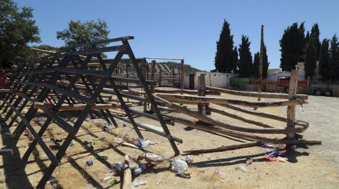 Lugar donde se produjeron los hechos en la localidad granadina de Montillana. (EFE)