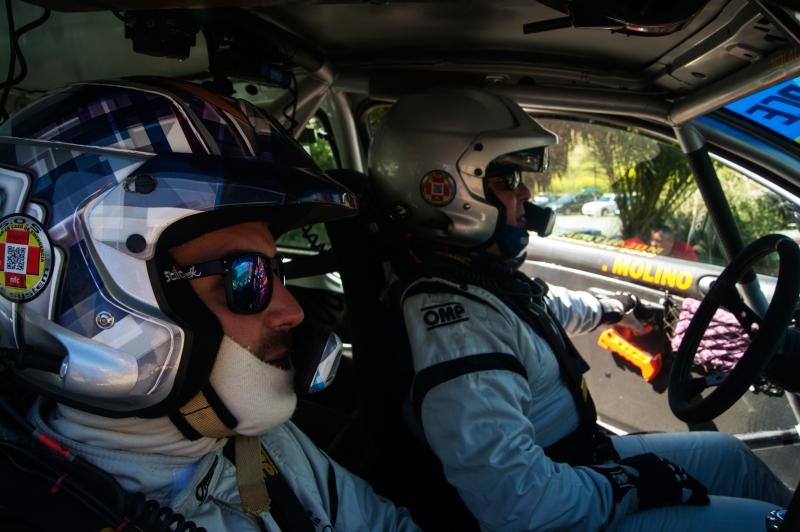 Iván Urea, copiloto de Jaén con Francisco Molino, piloto de Motril.Foto de: Paco Cruz.