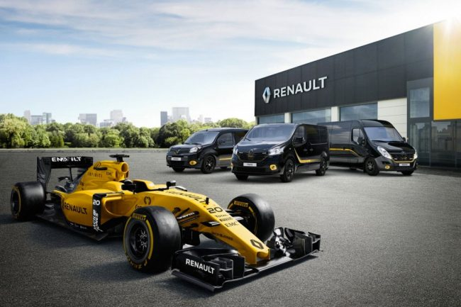 La gama industrial de Renault, rinde homenaje a la historia deportiva y la Formula Uno.