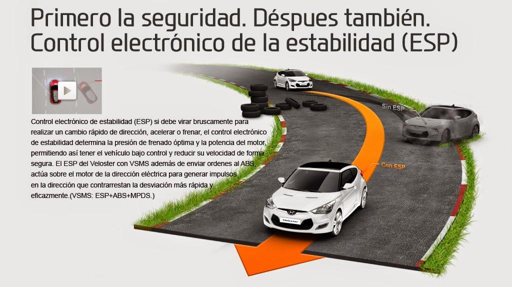El ESP o control electrónico de estabilidad es el segundo sistema vial en seguridad activa del vehículo.