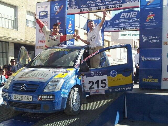 2012 fue el año mágico de Cumbero, proclamándose Campeón de España de tierra con Rubén Sastre y su competitivo Citroen C2.