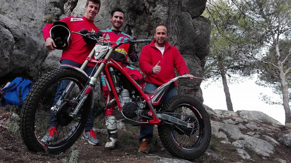 José Maria Moral probando su nueva montura Gas Gas, la nueva TXT Racing E4 con la que afronta esta temporada todo el Andaluz y nacional TR2.