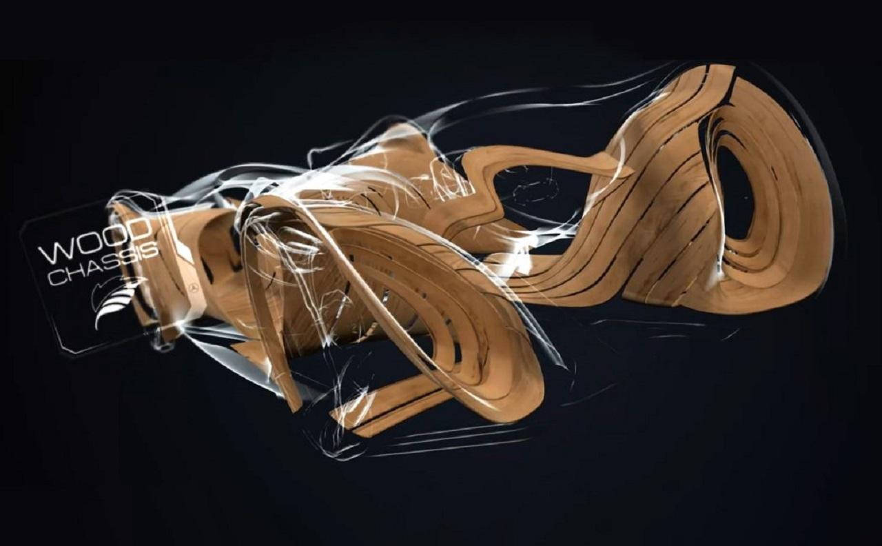 Mercedes-Benz investiga en el desarrollo de la creación de vehículos más eficientes, si cabe, aprovechando los recursos naturales y los árboles para fabricar modelos de madera.
