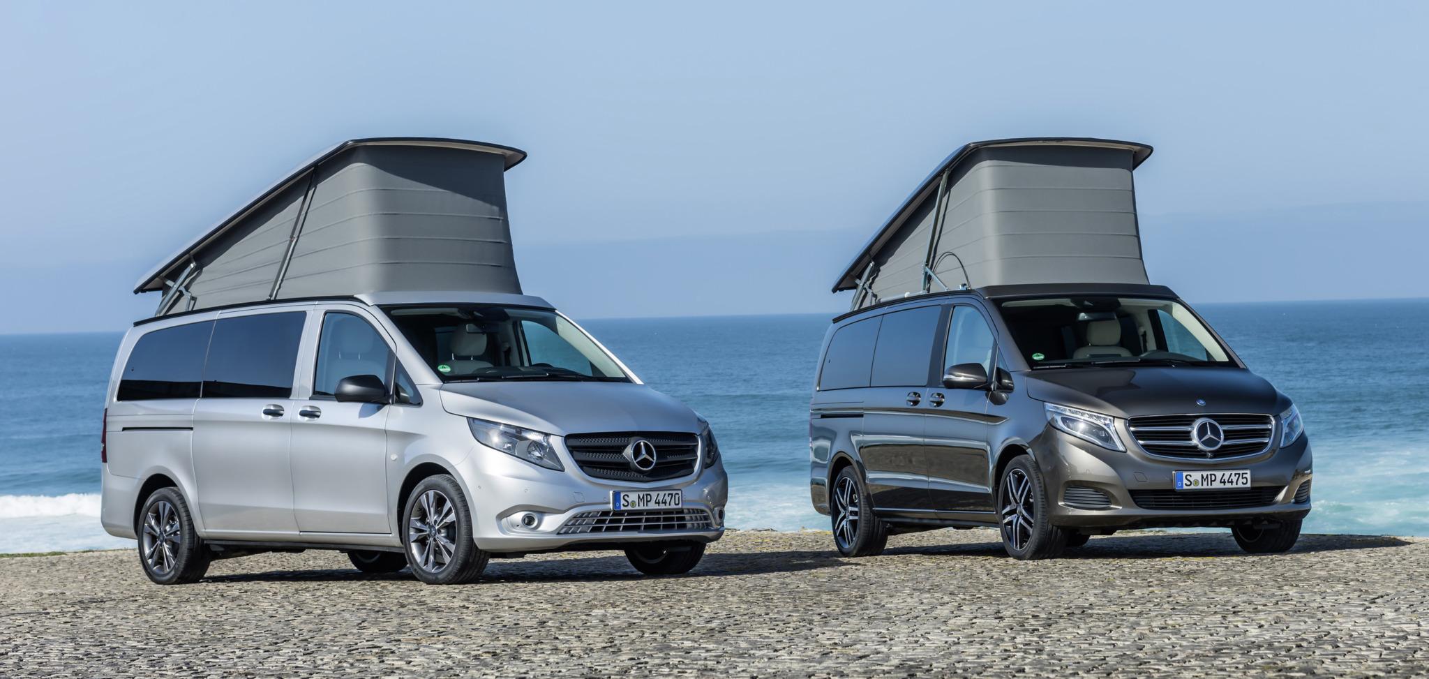 El confort y la elegancia se unen a la flexibilidad y el alto grado de variabilidad que ofrece el Marco Polo Horizon de Mercedes creado para los aventureros que aman el cielo libre y estrellado.