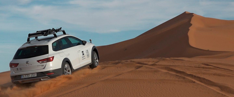 La versión especial del SEAT X-PERIENCE se convierte en el León del desierto en la Titán Desert de Marruecos, recibiendo el nombre de esta durísima prueba de bicicleta de montaña.