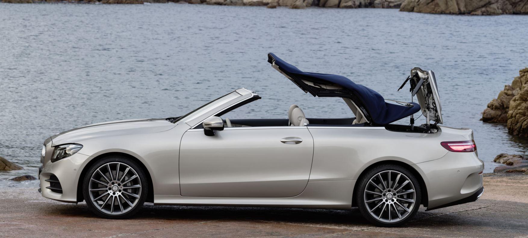 El lujo, la elegancia, la tecnología y seguridad se unen a la eficacia y el placer de conducir una estrella Mercedes, en este caso la versión de la Clase E Cabrio.