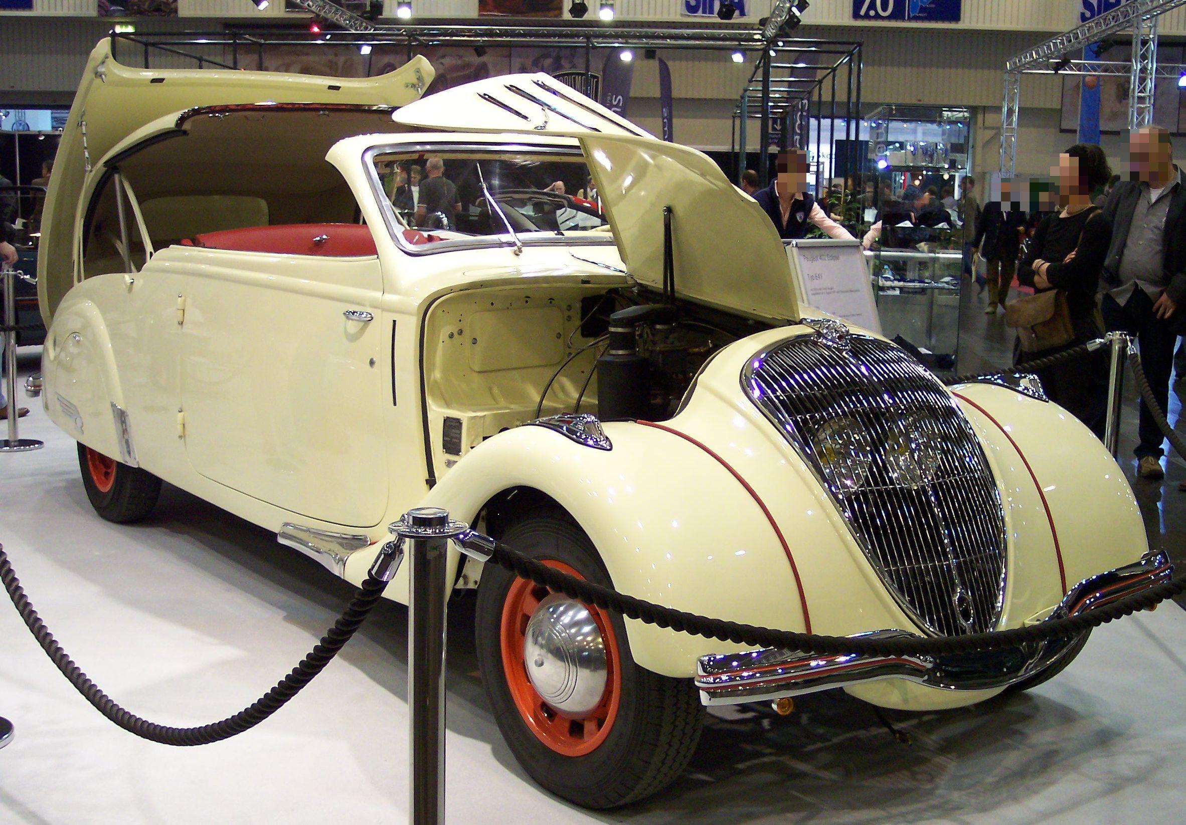 El Peugeot 401 Eclipse, además del pionero de los convertibles, fue un coche de producción mas admirado en todo el mundo.
